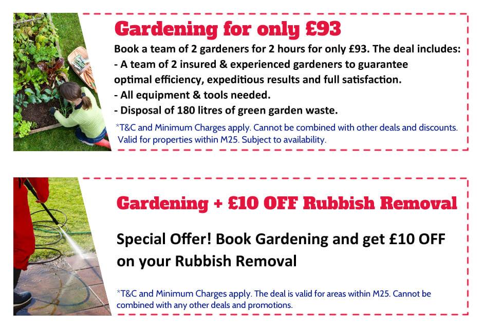 Gardeners Dulwich Offer